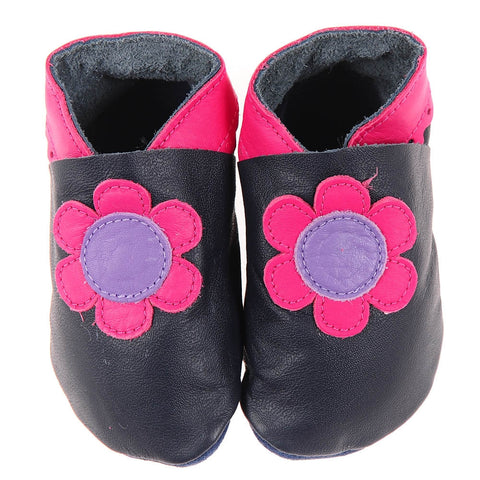 Flowers - Navy/Cerise/Lilac