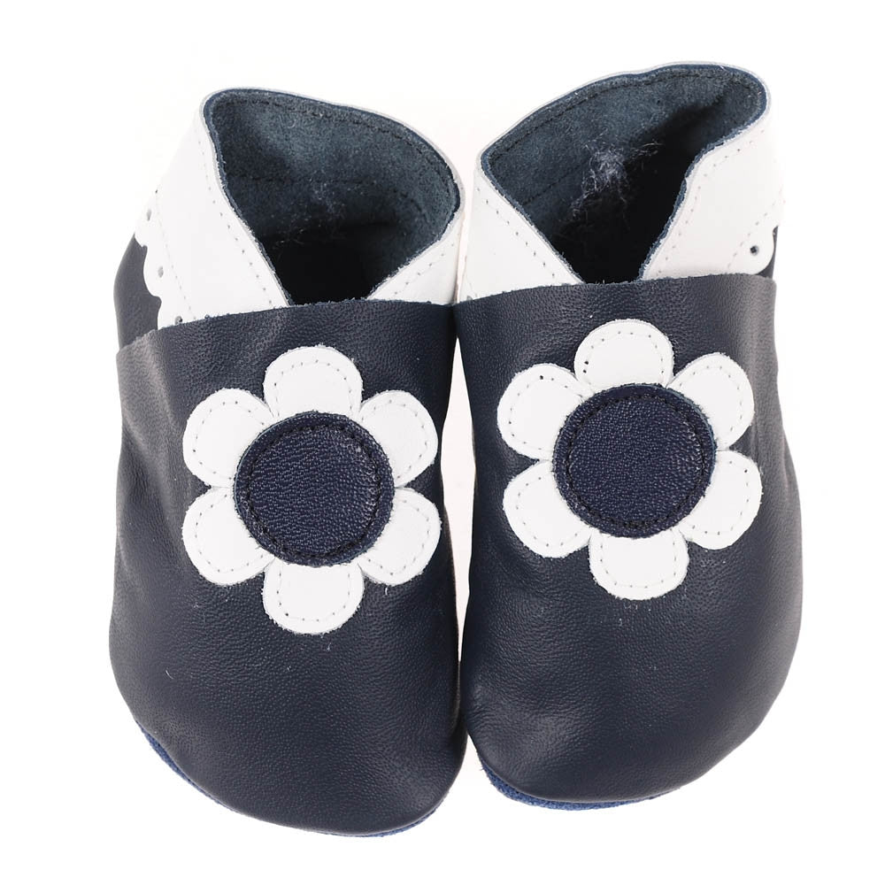 Flowers - Navy/White