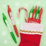 Holiday Candy Cane Gel Smens Scented Pens 4 Pack