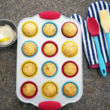 Complete 20-piece set includes everything you need to bake yummy mini cupcakes with your children