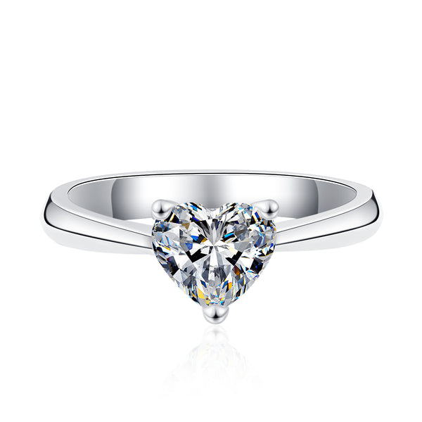 Fat Heart Cut Solitaire Ring (JR074)