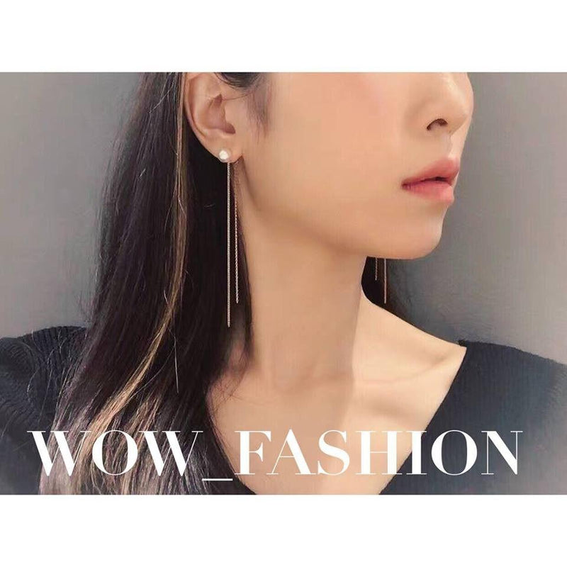 Swarovski Pearl Earrings 珍珠長耳環 (SWPE018)