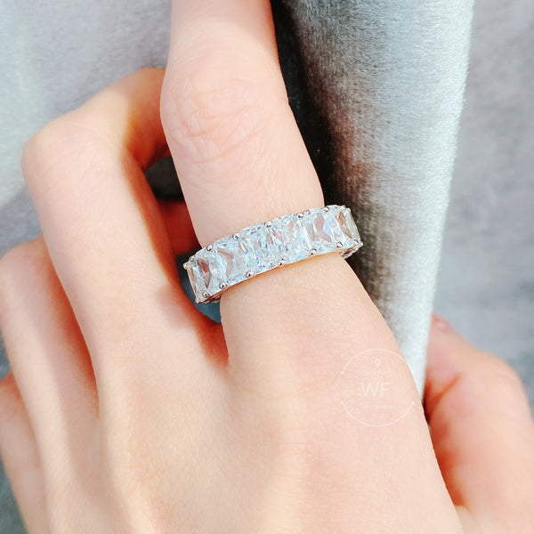 HERA Radiant cut full round ring HERA明亮切割全圈戒指 (JR066)