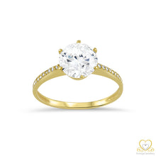 Load image into Gallery viewer, 9ct Yellow Gold Solitaire Ring 9AN0012