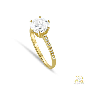 9ct Yellow Gold Solitaire Ring 9AN0012