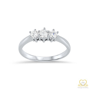 9ct White Gold Ring 9AN016