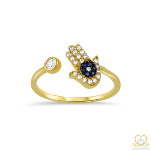 9ct Yellow Gold Hand of Fatima Ring 9AN0383