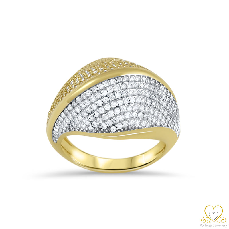 9ct Yellow and White Gold Ring 9AN0430