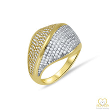 Load image into Gallery viewer, 9ct Yellow and White Gold Ring 9AN0430