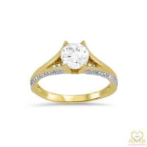 9ct Yellow Gold Solitaire Ring 9AN0524