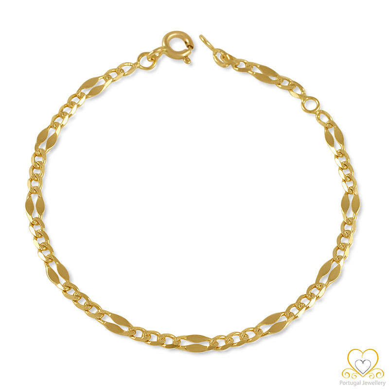 9ct Yellow Gold Children`s Bracelet 9PC0116