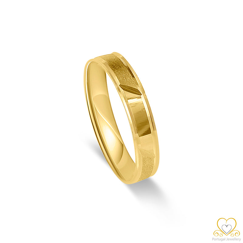 19.2ct Yellow Gold Wedding Ring AL019