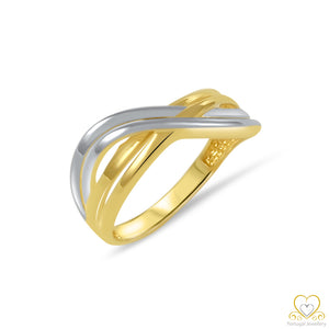 19.2ct Yellow and White Gold Ring AN01007