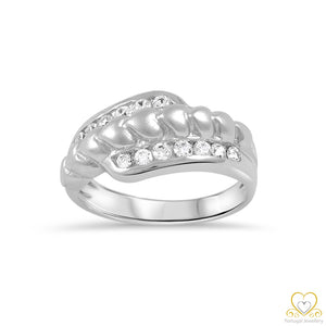 19.2ct White Gold Heart Ring AN090