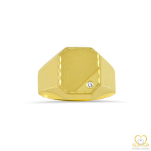Load image into Gallery viewer, 19,2ct Yellow Gold Square Men´s Signet Ring AN0949