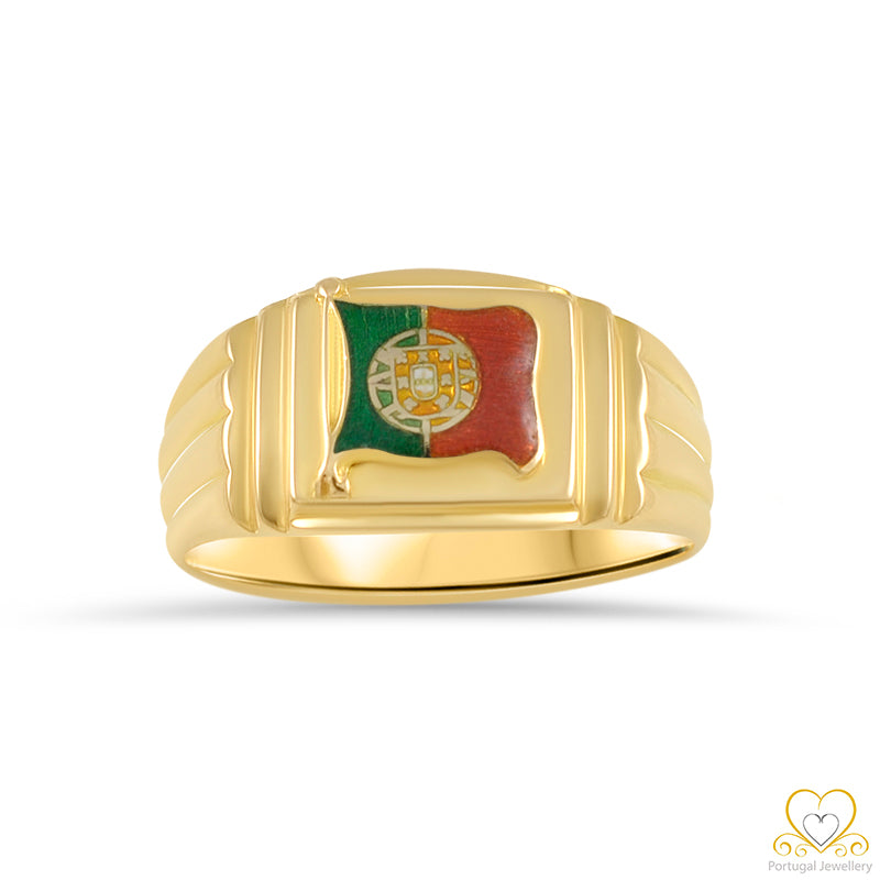 19.2ct  Yellow Gold Portuguese Flag Ring ANH001