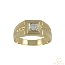 Load image into Gallery viewer, 19.2ct Yellow Gold Men`s Ring ANH010