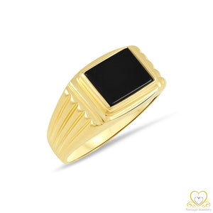 19.2ct Gold Men`s Onyx Ring ANH024