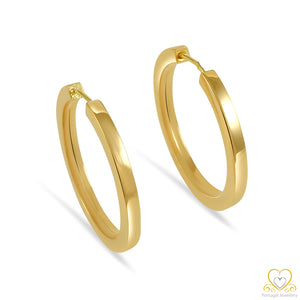 19.2ct Gold 25mm Hoop Earrings AR55134