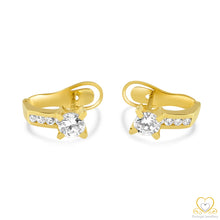 Load image into Gallery viewer, 19.2ct Gold Hoop Earrings  BR051