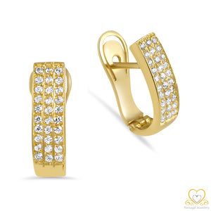 19.2ct Gold Hoop Earrings BR21203