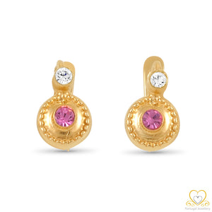 19.2ct Gold Children's Hoop Earrings BRC015
