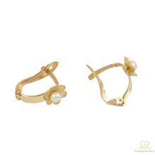 Carregar imagem no visualizador da galeria, 9ct Gold Children's Hoop Earrings BRC020