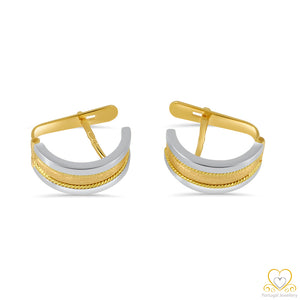 19.2ct Gold Hoop Earrings BR003