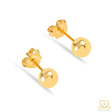 Carregar imagem no visualizador da galeria, 19.2ct Gold Ball Stud  Earrings BR024
