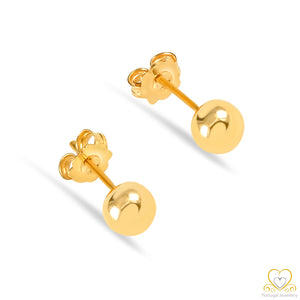 19.2ct Gold Ball Stud  Earrings BR024