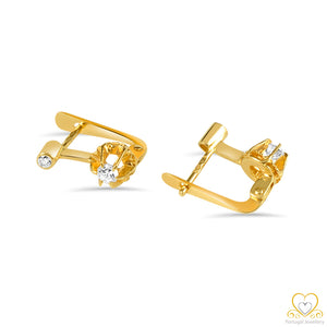 19.2ct Gold Hoop Earrings BR027