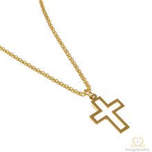 Carregar imagem no visualizador da galeria, 19.2ct Yellow Gold Cross Pendant CR003