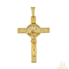Load image into Gallery viewer, 19.2ct Yellow Gold Cross Pendant CR0222