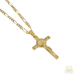 19.2ct Yellow Gold Cross Pendant CR0222