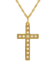 Load image into Gallery viewer, 19.2ct Gold Cross Pendant CR61237