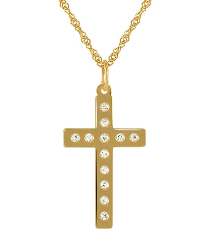 19.2ct Gold Cross Pendant CR61237