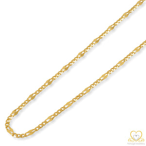 19.2ct Gold Figaro Chain FI012