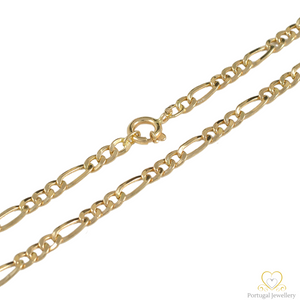 19.2ct Hollow Gold Figaro Chain FI0709