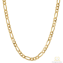 Load image into Gallery viewer, 19.2ct Hollow Gold Figaro Chain FI0709