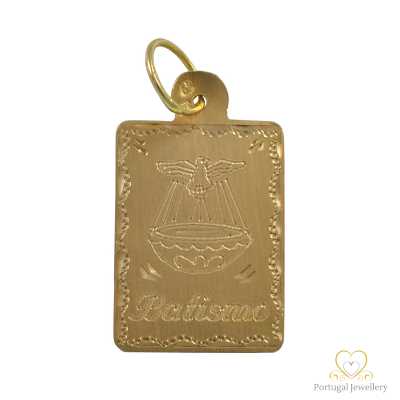 19.2ct Gold Children Baptism Pendant ME0037