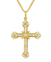 Load image into Gallery viewer, 19.2ct Gold Cross Pendant ME0111