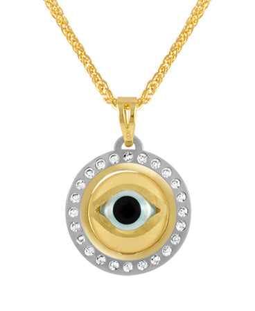 19.2ct Gold Turkish Eye Pendant ME0747