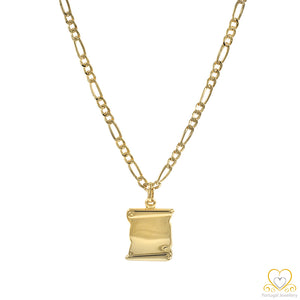 Yellow Gold Personalised Pendant ME079