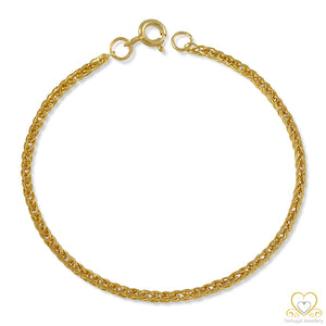 9ct Yellow Gold Children`s Bracelet PC0018