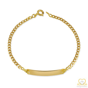 19.2ct Yellow Gold Children's ID Bracelet PC0050