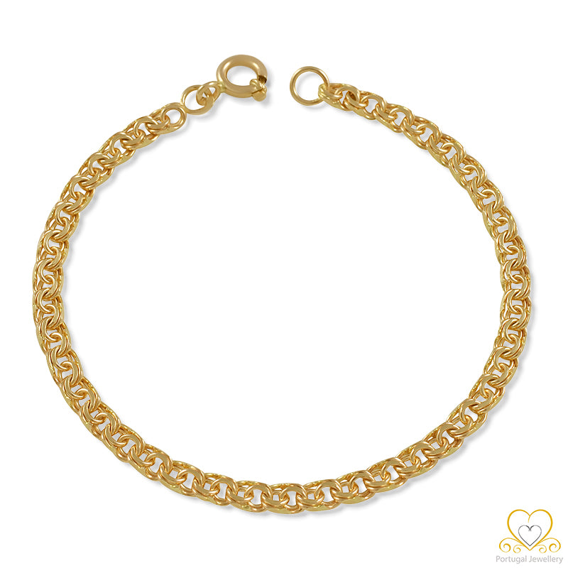 9ct Gold Children`s 4MM Frizo Bracelet PC0093