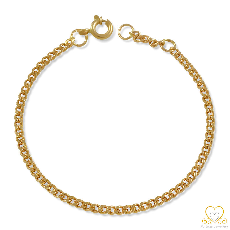 9ct Yellow Gold Children`s Barbela Bracelet 9PC0031