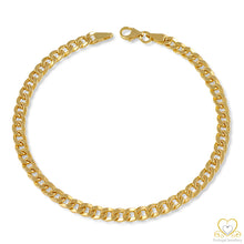 Load image into Gallery viewer, 9ct Yellow Gold 4MM Hollow Cuban link Bracelet PU00168