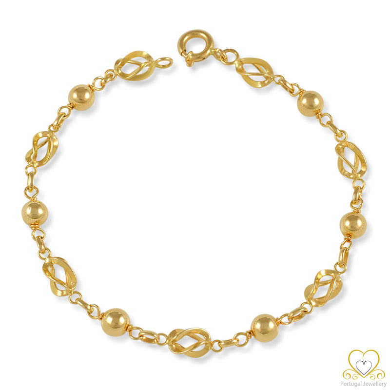 9ct Yellow Gold 4MM Ball Bracelet  PU0161