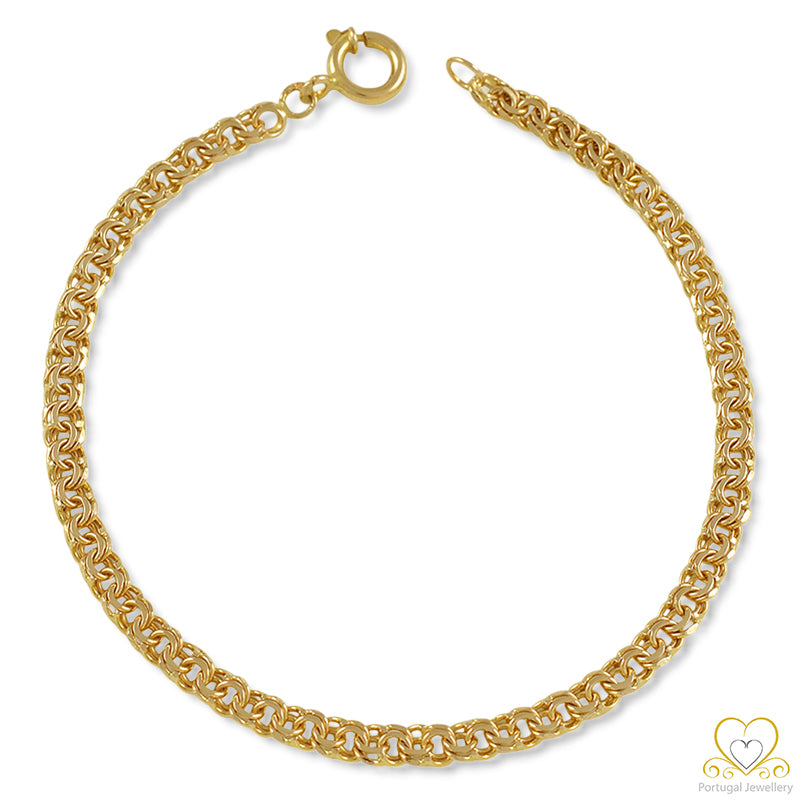 9ct Yellow Gold 4MM Frizo Bracelet PU0112